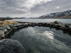 5C vs 38C, Best swimming pool ? (NT) Tags: iceland islande icelandic swimming pool fjord bassin landscape paysage paysages zuiko olympus omd em1 714mm 714 snow winter neige alone nobody nature montagne mountain