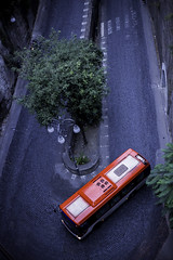 Around the bend (DT-Photographic) Tags: niftyfifty contrast bus red 50mmstm canon6d italy sorrento bend hairpin