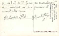 BLANCHARD, Ninette, farewell evening. To Olivier GARIN, Thtre Royal de Lige, 1936 (Operabilia) Tags: claudepascalperna autograph autographe goldenage divette soprano thtreroyal oliviergarin lige ninetteblanchard operetta