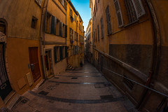 Wandering Old Town Nice (lncgriffin) Tags: nice nizza france rpubliquefranaise europe europa oldtown vieilleville rueduchateau fisheye travel nikon d610 nikkor 16mmf28dfisheye