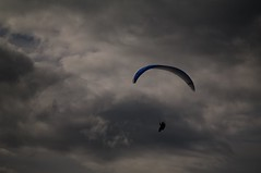 Phil under a gloomy sky (overflow50) Tags: paragliding paraglider canberra springhill spring australia sky clouds