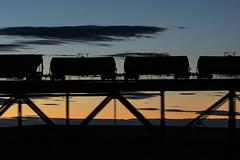 02.07.2016, BNSF, Cut Bank (Montana, USA) (miroslav.volek) Tags: bnsf cut bank montana usa train bridge night sky darkness sunset panning pentax ricoh da
