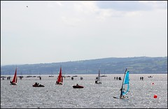 West Kirby Wirral  230816 (26) (over 4 million views thank you) Tags: westkirby wirral lizcallan lizcallanphotography sea seaside beach sand sandy boats water islands people ben bordercollie dog beaches reflections canoes rocks causeway yachts outside landscape seascape