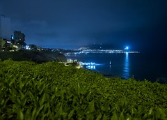 Lights of Lima (kud4ipad) Tags: miraflores lima peru plants light foliage night sea reflection 2014 landscape skyline cityscape sky