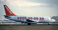 B737 | G-BECH | AMS | 19961214 (Wally.H) Tags: boeing737 boeing 737 b737 gbech ams eham easyjet amsterdam schiphol airport