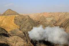 I_B_IMG_8304 (florian_grupp) Tags: asia china steam train railway railroad bayin lanzhou gansu desert landscape loess mountains sy ore mine 282 mikado steamlocomotive locomotive