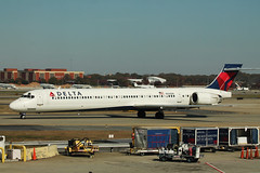 Delta N920DN: McDonnell-Douglas MD-90 (formulanone) Tags: fnflown jet plane airplane aircraft dl delta deltaairlines katl atlanta atl hartsfieldjackson airport commercialairline commercialaircraft mcdonnelldouglas md90 maddog n920dn