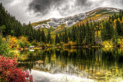 Lizard Lake (Serithian) Tags: hdr high dynamic range sony alpha a6000 photomatix fall colors aspens marble crystal colorado rocky mountains mill river town clouds snow leaves autumn