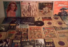 1950's : (Retro King) Tags: 1955 retro records albums 1956 vinyl singles 1957 lps elvis soundtracks 1958 vintage comicbooks magazines 1959 marilyn collectables beano comics paperbacks
