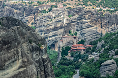 Magical, mystical and magnificent monasteries in Meteora, Greece (christinadimitriadou) Tags: nature landscape summer mountain church monastery meteora greece amazingplace holyplace