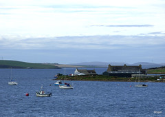 Part Of Burray Village In Orkney (orquil) Tags: part segment burray village island southisles seaside calm sea boats yachts moored pier house shed sandshotelscapaflow sheltered natural anchorage background southronaldsay cloudscape september autumn orkney islands scotland uk unitedkingdom greatbritain orcades sandshotel scapaflow