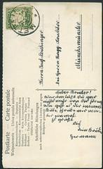 Archiv H339 Deutscher Knabenkalender. Postkarte, Poststempel Metten vom 28. Mrz 1908 (Hans-Michael Tappen) Tags: archivhansmichaeltappen postkarte metten briefmarke stamps poststempel handschrift text 1908 vintage 1900er 1900s