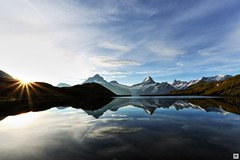 breathe (yves_matiegka) Tags: alps bachalpsee grindelwald switzerland mountains lake clouds hiking reflection summer sunrise light landscape