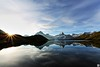 breathe (yves_matiegka) Tags: alps bachalpsee grindelwald switzerland mountains lake clouds hiking reflection summer sunrise light landscape