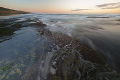 01416 (~maxi) Tags: sorrentobackbeach rockpools longexposure neutraldensityfilter lowtide ocean waves water movement seaweed reef morningtonpeninsula foam sunset clouds motion dynamic