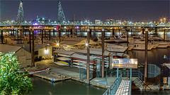 MARINA -53703- (Terry Frederic) Tags: boats bridges canon5dmkiii hdr lightroom661processed longexposure night ononeprocessed oregon photoshop portland rivers riverscape terryfrederic topazadjust5processed topazdenoiseprocessed usa willametteriver