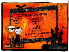 TRICK OR TREAT (Nonni_F) Tags: halloween falloween digital scrap scrapping surreal fantasy pumpkin trick treat candy invite black orange mischief circus ct kits design