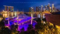 Urban Nights (Ashley Teo (PilotPotato)) Tags: panorama beautiful architecture night buildings landscape lights nikon scenery singapore glow colours angle wide dramatic scene stitching glowing colourful