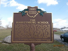 Harveysburg/ The Harveysburg School (glennhistorygeek) Tags: ohio marker warrenco harveysburg