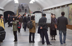 "Pyongyang Kaeson (""Triumph"") Metro Station (humanitybesideus.net) Tags: subway metro northkorea pyongyang dprk"