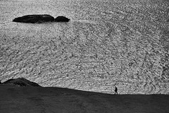 on the edge of myself (zip po) Tags: ireland shadow sea blackandwhite monochrome silhouette island coast inishbofin blackwhitephotos