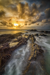 Morning Breeze (MunzerShamsul) Tags: longexposure morning travel sea sun seascape beach clouds sunrise landscape nikon waves formation filter terengganu d800 rockformation waterscapes uwa dungun leadingline leefilter tanjungjara nikonasia tokina1116mm munzershamsul
