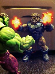 Blastaar vs. The Hulk (chevy2who) Tags: action figure marvel universe thehulk 334 blastaar uploaded:by=flickrmobile flickriosapp:filter=iguana iguanafilter