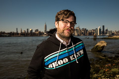 Daniel Krieger (Adam Lerner) Tags: portrait brooklyn waterfront williamsburg gothamist adamlerner httpadamlernernet httpadamlernerphotocom fujix100s x100s fujifilmx100s