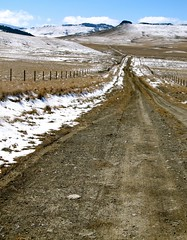 Deadman Coulee Road.  Montana. (montanatom1950) Tags: ranch snow montana mud farm subaru backroads dirtroads