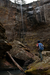 Kings Bluff Falls (Jeka World Photography) Tags: cliff waterfall rocks hiker arkansas bluff ozarknationalforest pedestalrocks kingsbluff pedestalrocksscenicarea kingsblufffalls jekaworldphotography jeffrosephotography
