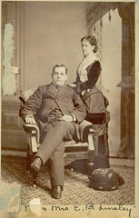 1-29-177 Mr.& Mrs. Linsley (Three Rivers Library) Tags: husbandandwife groupportrait