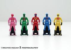 1. Himitsu Sentai Goranger () (Delvise Ngeaw) Tags: keys ranger gashapon legend dx sentai kaizoku gokaiger
