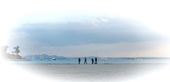 fishing (eleda 1) Tags: blue fishing fishermen silhouettes beachfishing majorca