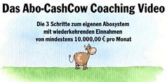 Ihr eigenes AboBusiness in 3 Schritten aufbauen! Das Abo-CashCow Online Coaching von Daniel Dirks. (mycouponway) Tags: video coaching internetmarketing geldverdieneniminternet geldverdienenonline mycouponway promoarena abocashcowcoaching abocashcowvideo danieldirks