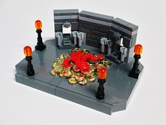 He Loves Gold! (Julius No) Tags: gold lego earth micro loves middle hobbit smaug