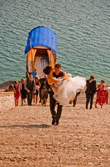 Wedding at Lake Bled (RiserDog) Tags: wedding church steps tradition lakebled pilgrimagechurchoftheassumptionofmary