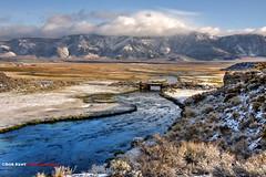 Bridge Over Hot Creek (Bob Kent) Tags: snow clouds sage sierra owens owensvalley hotcreek easternsierra owensriver