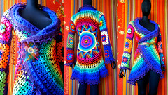 Crochet Coat - Purple Aztec Sun Mandala And Granny Squares (babukatorium) Tags: pink blue red orange flower color green art wool fashion yellow vintage circle square star sweater rainbow colorful warm purple recycled handmade turquoise teal burgundy oneofakind coat crochet moda violet style mandala shades retro shade hippie psychedelic arcobaleno cardigan bohemian doily multicolor whimsical darkblue haken häkeln emeraldgreen crochê grannysquares ganchillo royalblue fuxia uncinetto fattoamano かぎ針編み tığişi horgolt uvgreen babukatorium