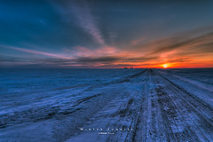 Winter Sunrise 0591_2013 (IanDMcGregor) Tags: road morning winter snow canada cold beautiful beauty rural sunrise grid dawn frozen nikon country silos prairie saskatchewan d800 yorkton rokeby ianmcgregor