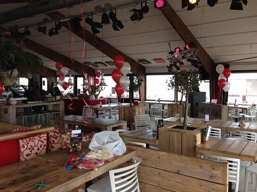 Tafeldecoratie 5ballonnen The Bing Hoek van Holland