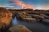 St. Mary's Island (Alistair Bennett) Tags: sunset lighthouse seascape evening coast rocks stmarys whitleybay tynewear baitisland canonef1740mmƒ4lusm gnd075he
