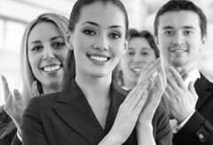 Business people (zigzagpress) Tags: people male men smile smiling businessman female laughing work person office team women hand friendship adult background group young happiness meeting row professional business suit seminar human convention motivation presentation satisfaction cheerful manager job success partnership leadership clapping selective confidence teamwork caucasian agreement occupation expertise applauding businesswoman positivity expressing congratulating