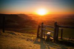 (drfugo) Tags: shadow field grass fence hills flare barbedwire stile southdowns devilsdyke fulking sigma28mmf18exdg fulkingescarpment canon5dmkii