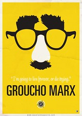 Groucho Marx (Equal & Opposite) Tags: music art graphicart poster graphicdesign quote groucho marx posterart greyjay equalandopposite
