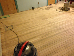 almost done sanding? (elizajanecurtis) Tags: home kitchen maple renovation refinishing homeimprovement woodfloor sander limington kitchenfloor maplefloor