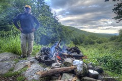Campfire on the Long Trail in Vermont (Andrew E. Larsen) Tags: vermont newengland cigar campfire longtrail papalars andrewlarsenphotography