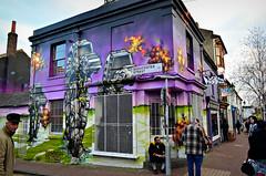 GLOUCESTER STREET (Di's Free Range Fotos) Tags: people graffiti starwars streetscene artillery msk ha heavy walkers atat aroe allterrainarmoredtransport paintedshop