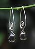 Tear drop earrings (tdeejewelry) Tags: bali silver earring jewelry smokeyquartz