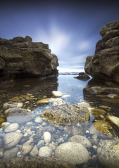 Uda (Tom Whitfield) Tags: uk blue sea england sky motion beach water tom canon giant photography eos movement rocks long exposure stones cleveland tripod pebbles sharp le 7d nd daytime filters teesside hitech hama whitfield hartlepool giottos gnd