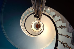 Corsewall Lighthouse spiral stair - the view up! (iancowe) Tags: sea irish lighthouse spiral hotel scotland stair scottish stevenson staircase round mull circular galloway stranraer northernlighthouseboard nlb robertstevenson corsewall kirkcolm lighthousetrek